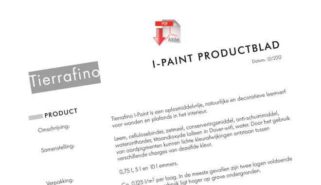 Product sheet I-paint
